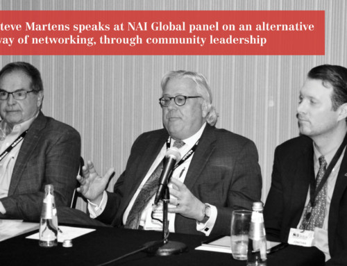 Steve Martens sits on NAI Global panel to discuss networking through community leadership